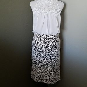 Brown and white Michael Kros skirt